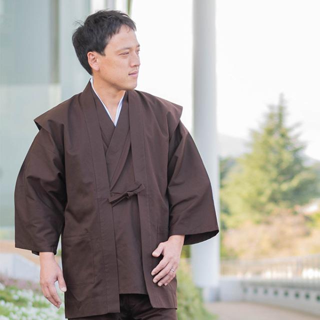 綾織羽織 3番色濃茶