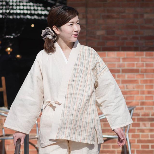 阿波しじら織女性デザイン作務衣 No.4