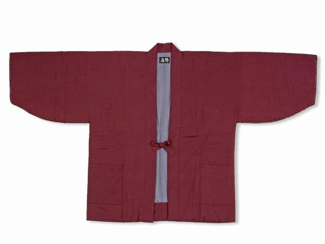 シルク真綿 袢天 女性用 4番色 エンジ