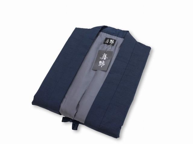 シルク真綿ポンチョ 濃紺