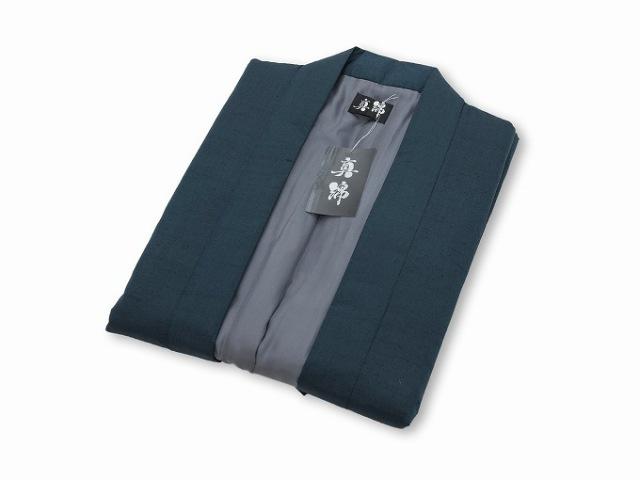 シルク真綿ポンチョ 鉄紺