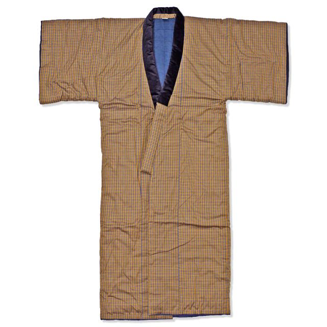 丹前 2番色茶 145cm丈