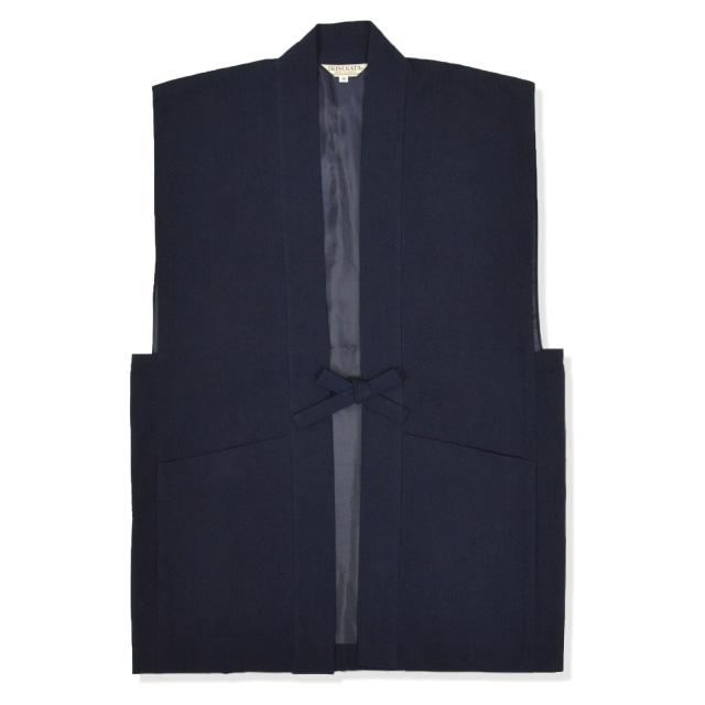たてスラブ羽織 No.1 濃紺