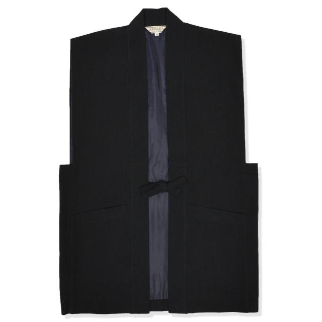 たてスラブ羽織 No.7 黒
