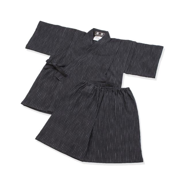 子供用近江ちぢみ絣織甚平 No.1 濃紺