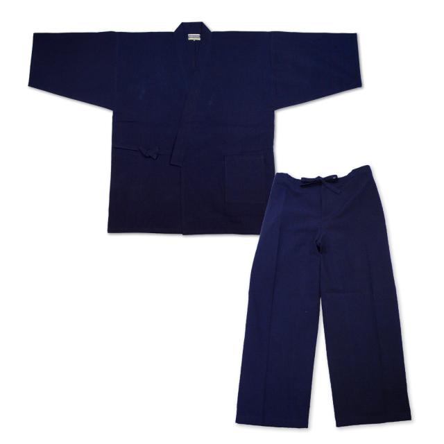 本藍染作務衣 No.1 濃紺