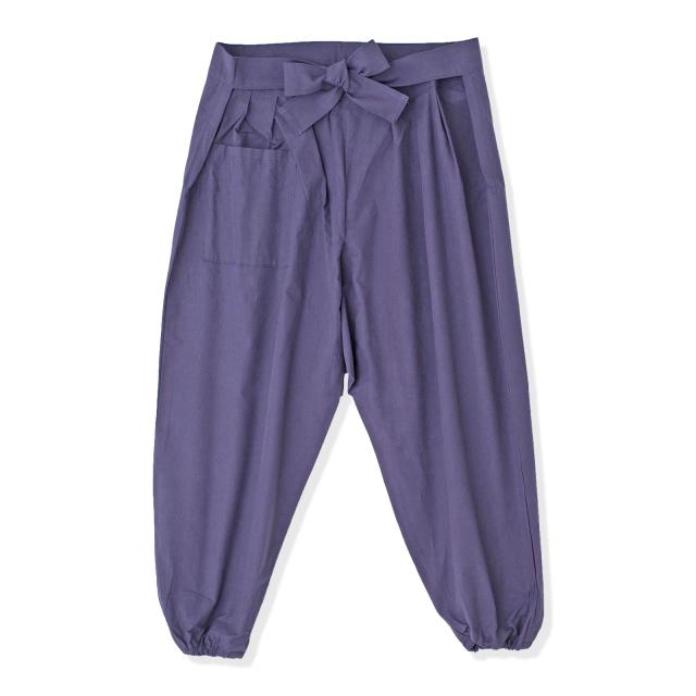 袴式本もんぺ無地 NO.8 紫 (袴式)