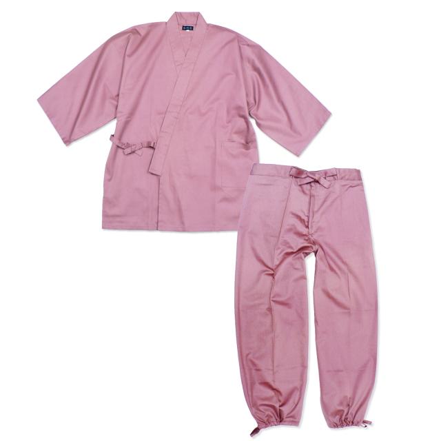 綾織作務衣 No.11  ピンク