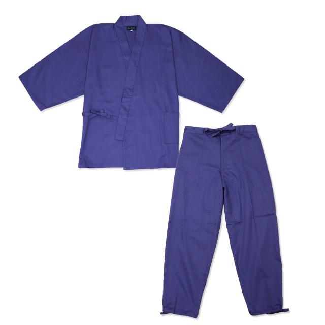 綾織作務衣 12番色 パープル
