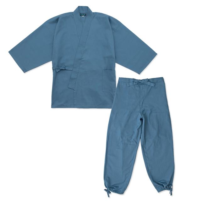 綾織作務衣 14番色ブルーグレー