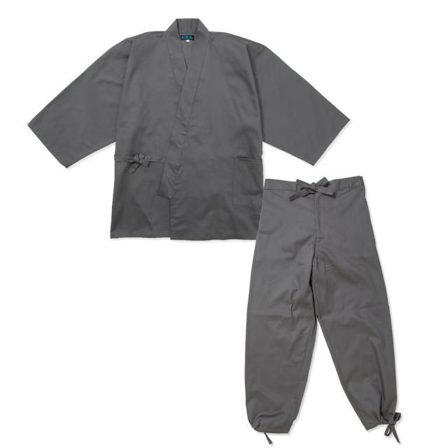 綾織作務衣 2番色グレー