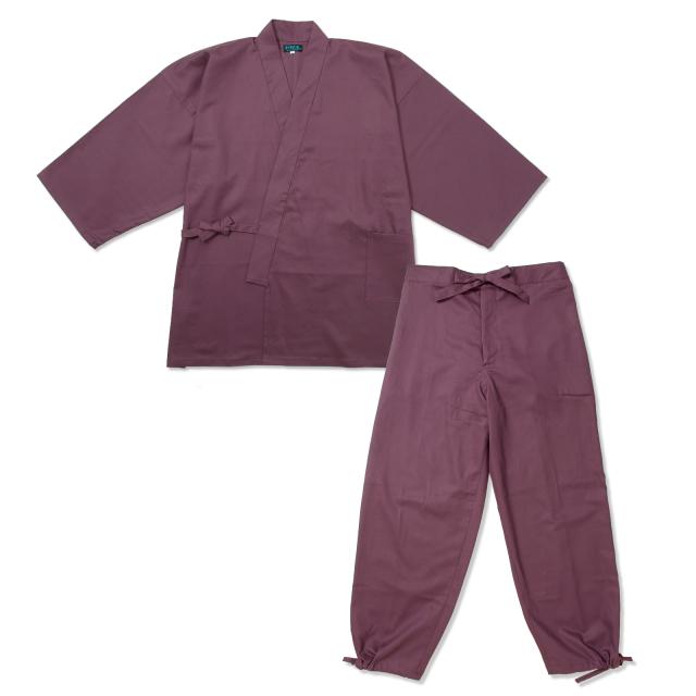 綾織作務衣 No.9  古代紫