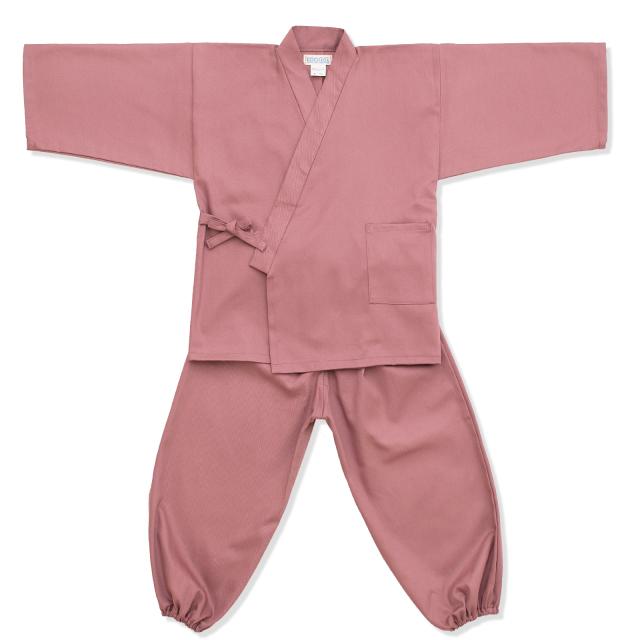 子供用綾織作務衣 11番色 ピンク