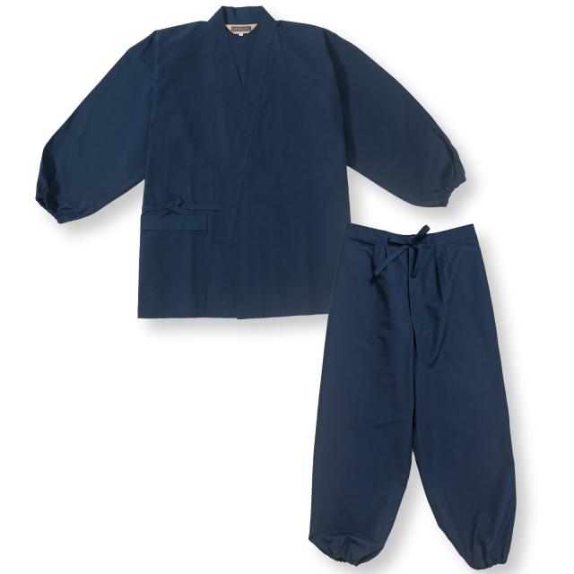 袖・裾ゴム式  撥水高機能作務衣 No.1 濃紺