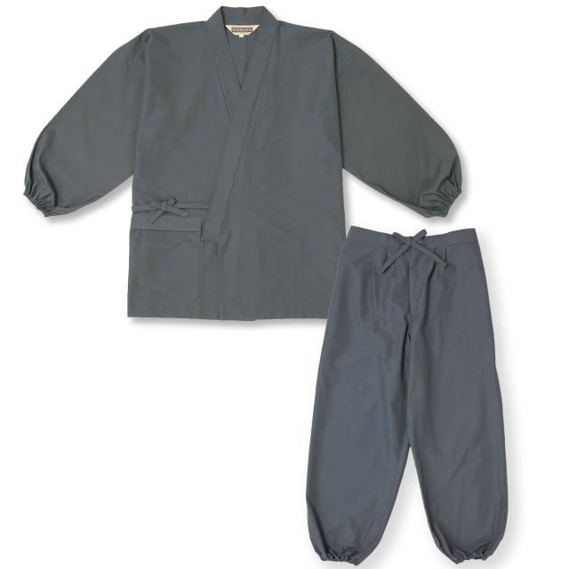 袖・裾ゴム式  撥水高機能作務衣 No.2 グレー