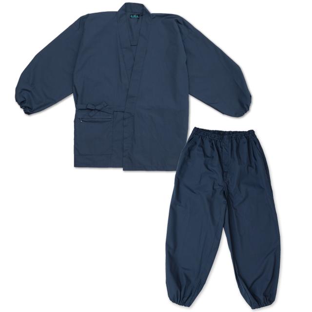 多機能袖裾ゴム式作務衣 No.1 濃紺