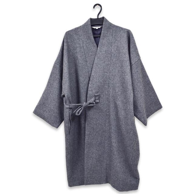 作務衣コート グレー