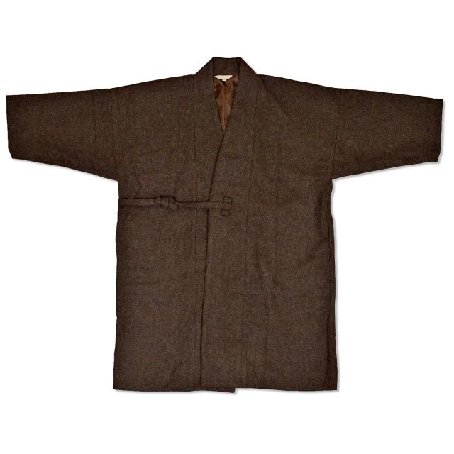 作務衣コート 茶色