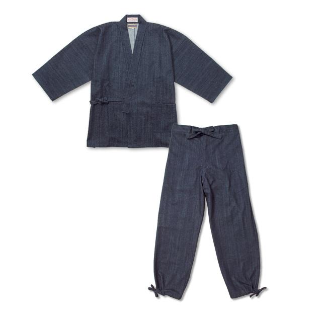 カイハラデニム・11オンス作務衣 No.1 濃紺