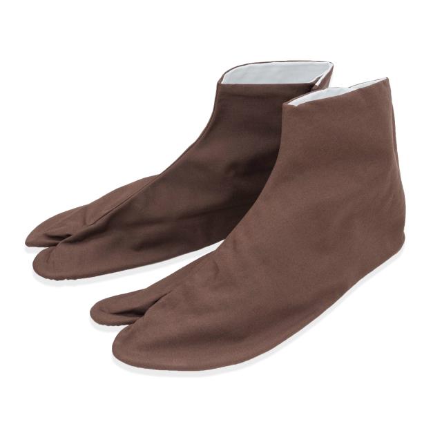 きねやたび 色木綿足袋 【濃茶】 四枚こはぜ