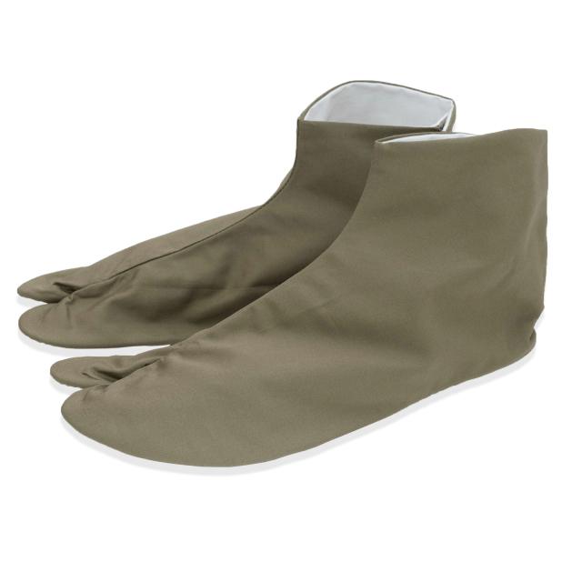 きねやたび 色木綿足袋 【抹茶色】 四枚こはぜ