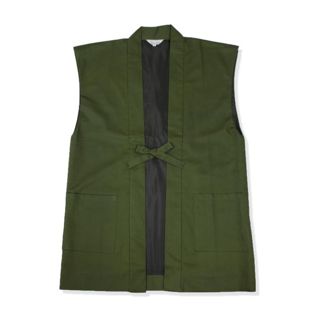 綾織羽織 5番色 モスグリーン