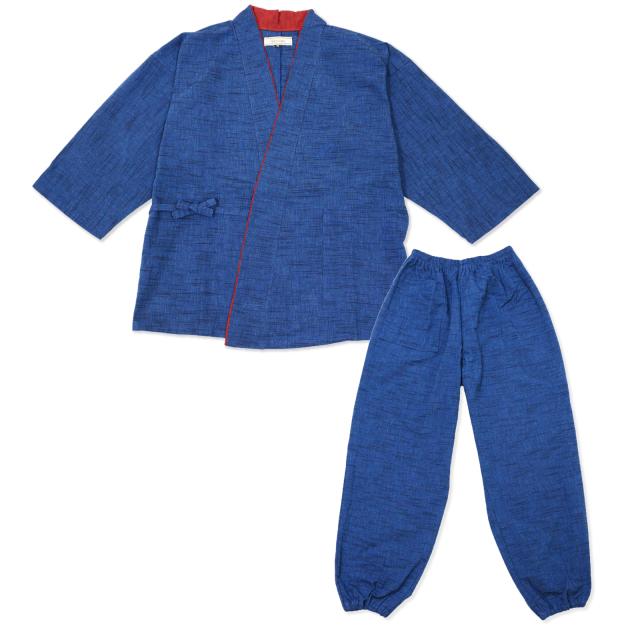 女性用パンツルック作務衣 No.224 ブルー