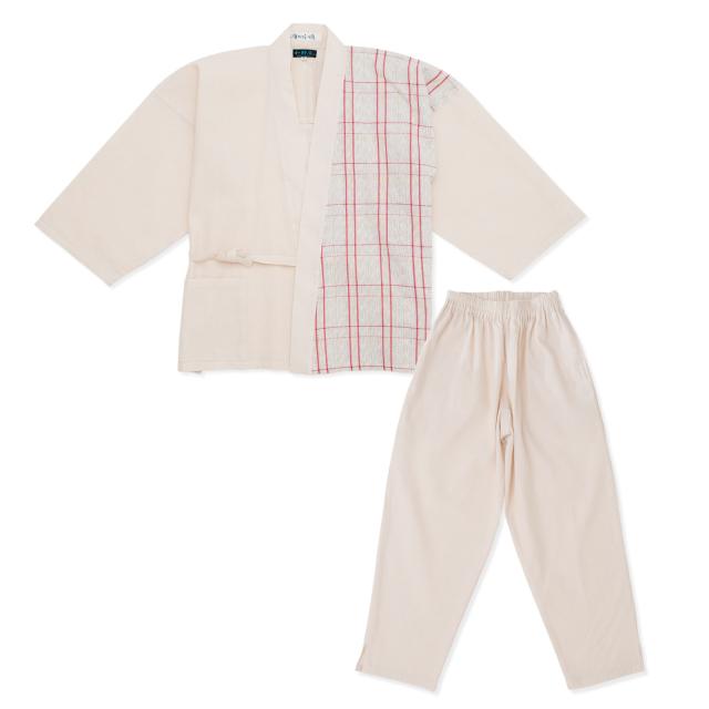 阿波しじら織女性デザイン作務衣 No.3