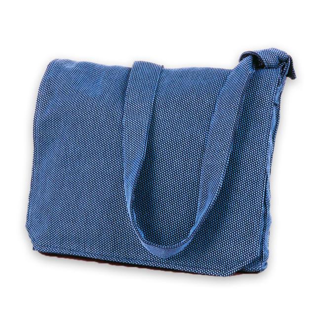 刺子織頭陀袋 No.2 ブルー