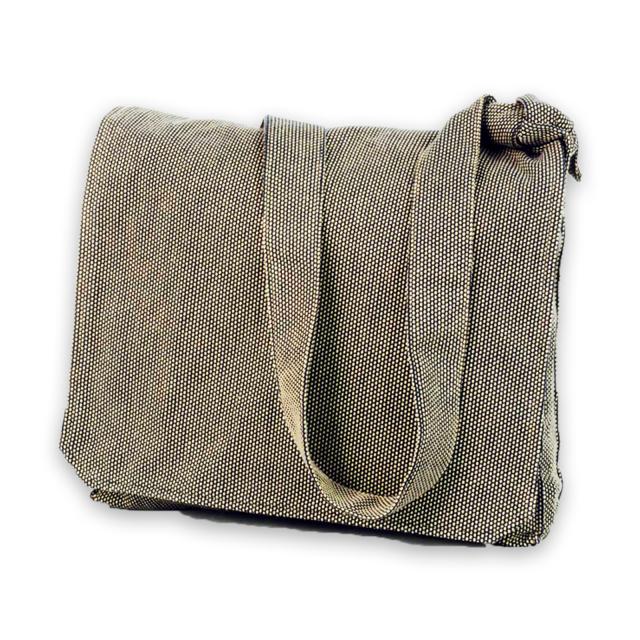 刺子織頭陀袋 No.3 茶