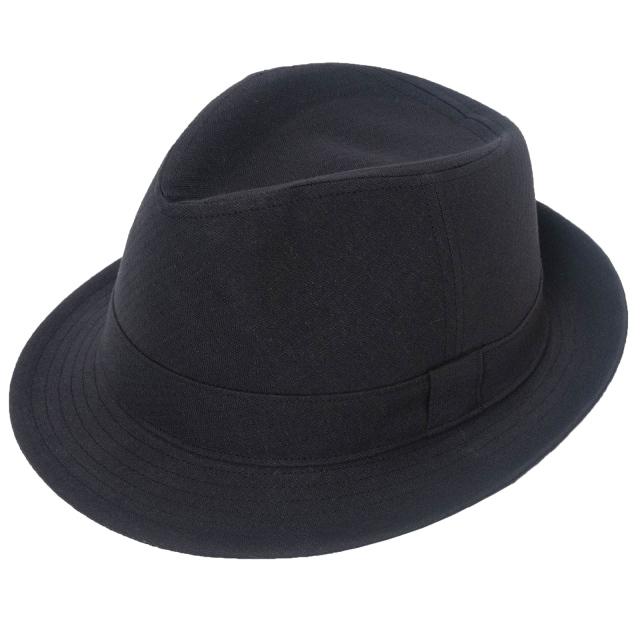 和紙しじら織中折れ帽子 No.3 黒