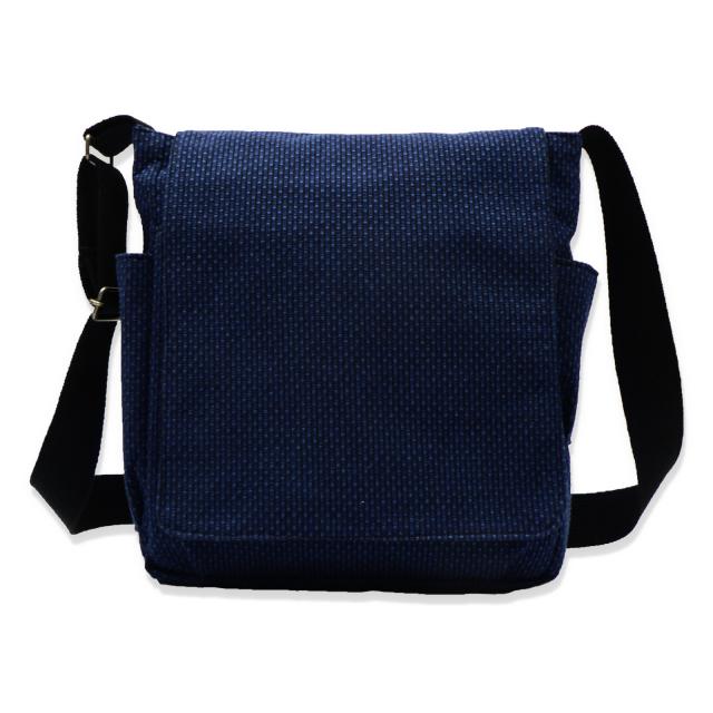 刺子織ショルダーバッグ  No.1 濃紺