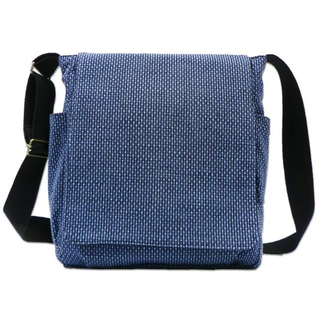 刺子織ショルダーバッグ  No.2 ブルー
