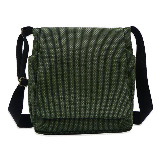 刺子織ショルダーバッグ  No.5  グリーン