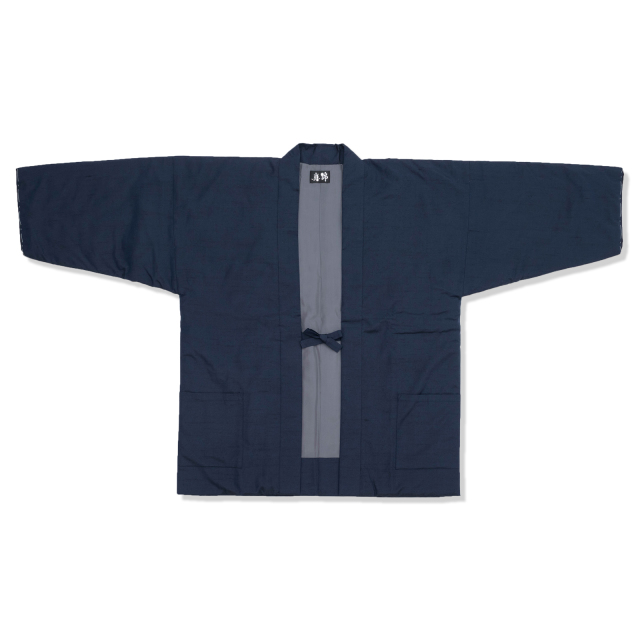 シルク真綿 袢天 男性用 1番色 紺