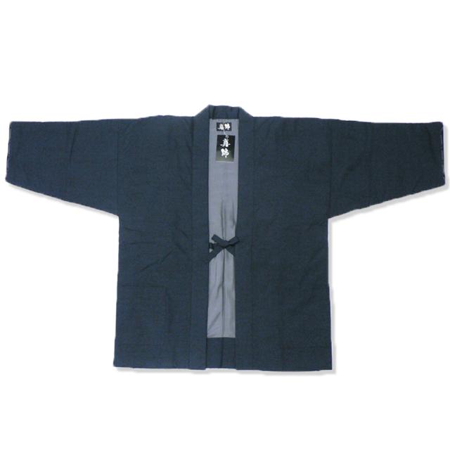 シルク真綿 袢天 男性用 3番色 グレー