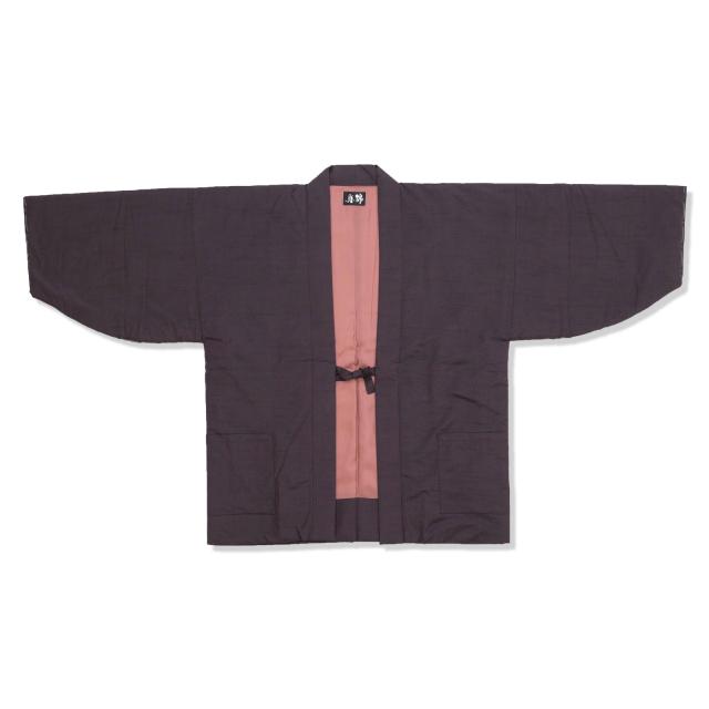シルク真綿 袢天 女性用 5番色 パープル