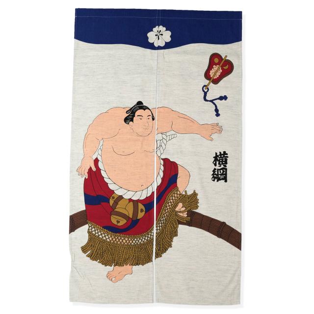 浮世絵のれん 相撲 107