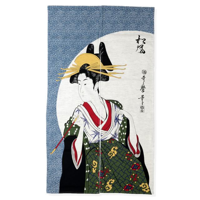浮世絵のれん 松風 108