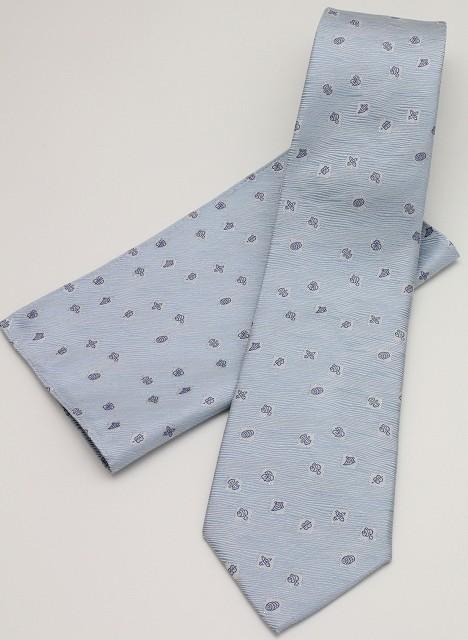 ネクタイ 宝づくし-ブルー