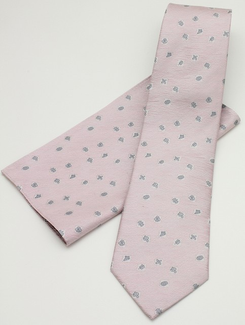 ネクタイ 宝づくし-ピンク