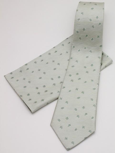 ネクタイ 宝づくし-グリーン