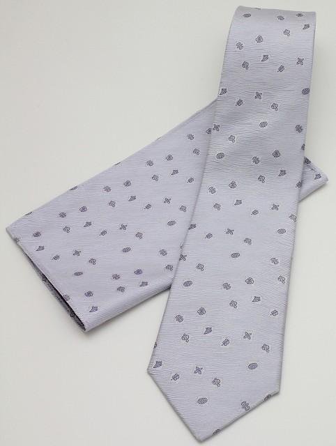 ネクタイ 宝づくし-パープル