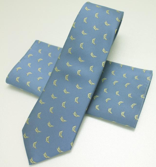 ネクタイいのしし(ブルー)