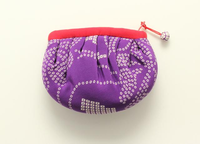 匹田パフポーチ小(紫)
