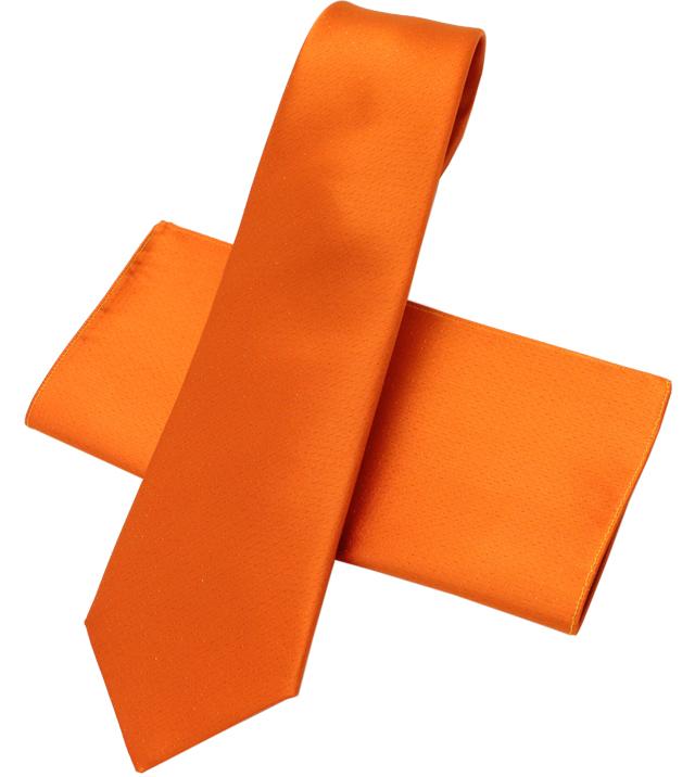 ネクタイ 本繻子 オレンジ