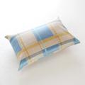 【特価品】日本製 綿100% ブルー/チェック柄 枕カバー 43cm×63cm用