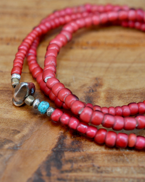 WATER限定 39 (SunKu/サンク) Antique Beads Necklace & Bracelet / アンティークビーズ ネックレス&ブレスレット