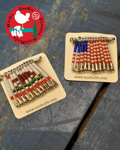 【DM便可能です】39 (SunKu/サンク)  Safety Pins Badge / セーフティーピンバッジ