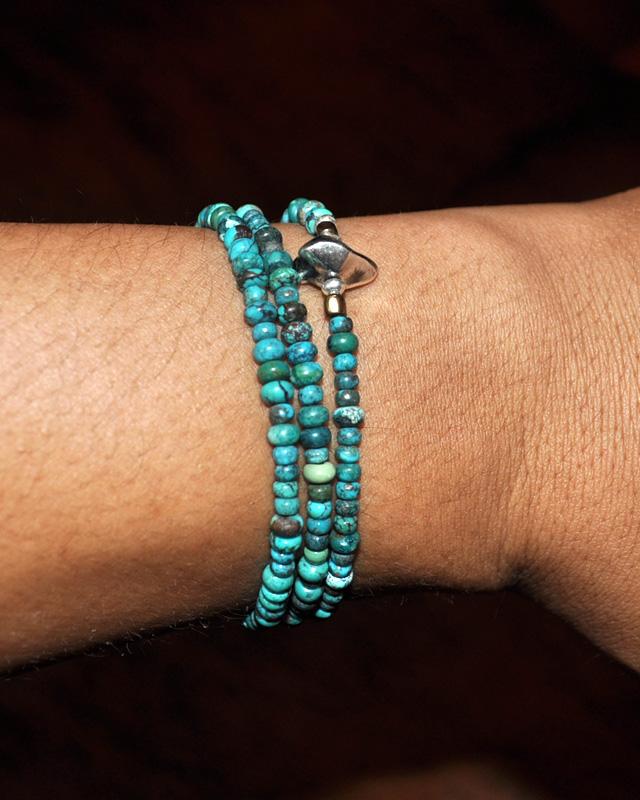 39 [SunKu] サンク Turquise Beads Necklace & Bracelet